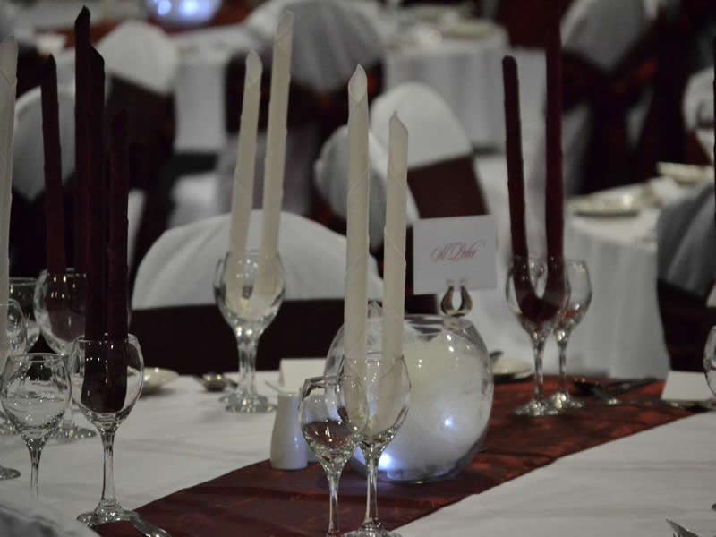 Burgundy Taffeta Sash and Table Runner