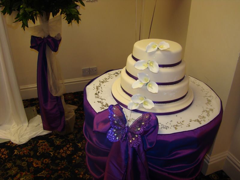 Top Table and Cake Table Swags